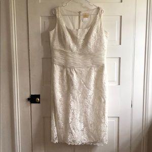 La Belle Dresses - Formal White Lace Dress